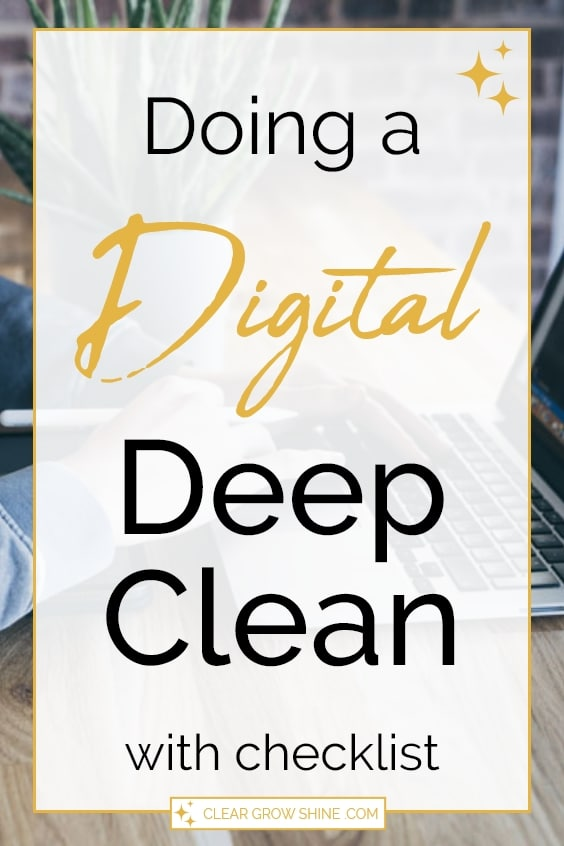 doing a digital deep clean pin