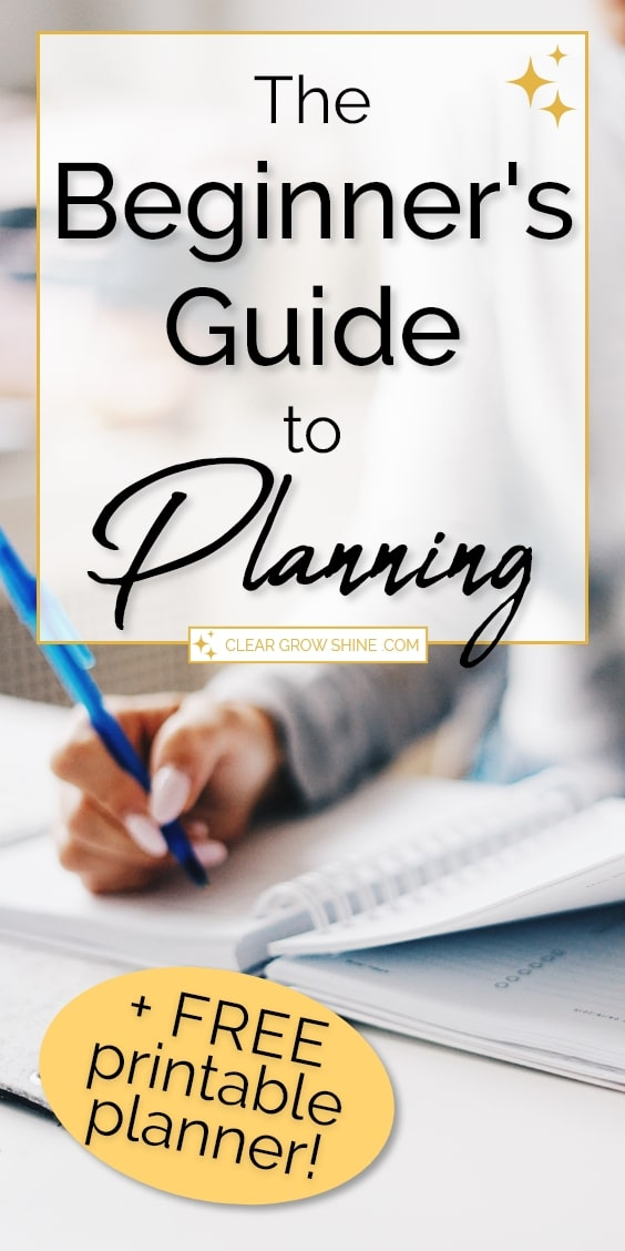 the beginners guide how to use a planner pin