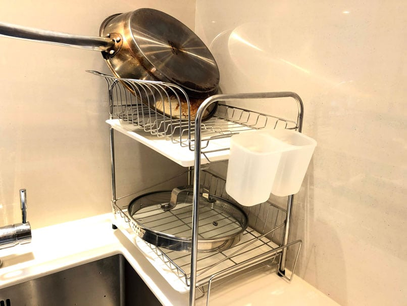 double dish rack keep your house clean