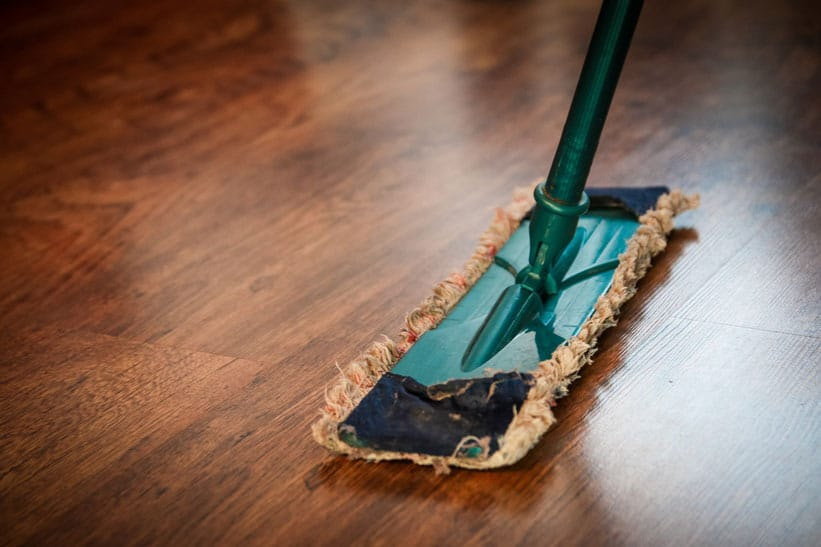 mop on floor steam mop to keep your house clean