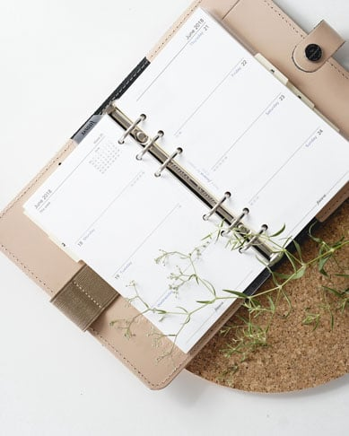 journal seen from top how to use a planner