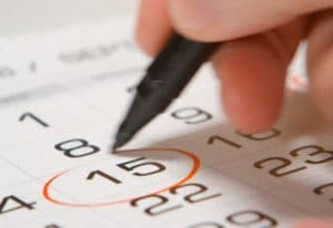 calendar mark date set a start date to breaking bad habit