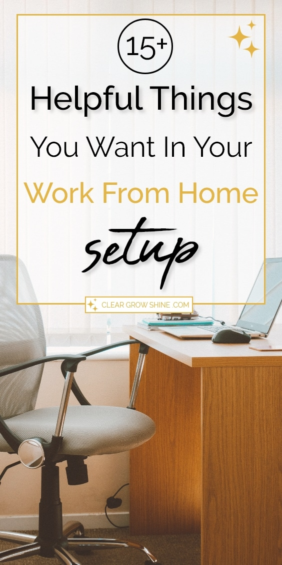 pin image 15+ helpful things you want in your work from home setup