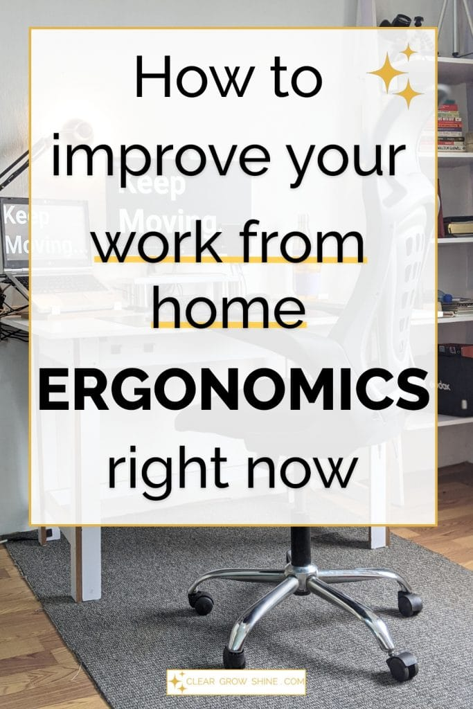 how to improve your work from home ergonomics pin image