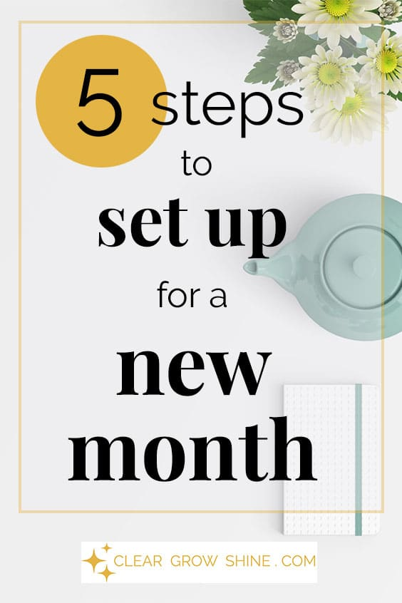 pin image 5 steps to set up a new month for better productivity
